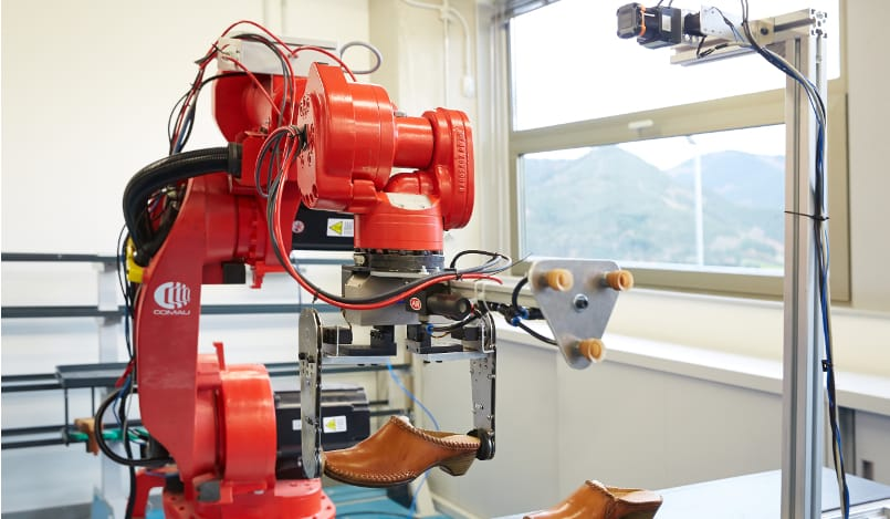 Robots for automation in the shoe industry