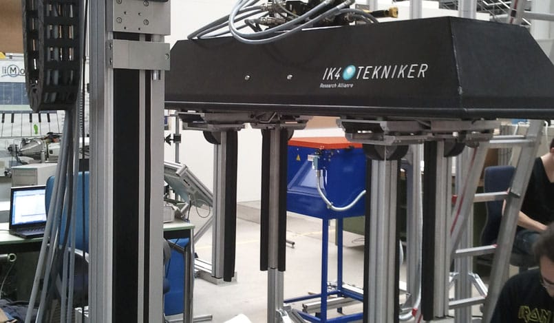 Industrial robotics for packaging stations