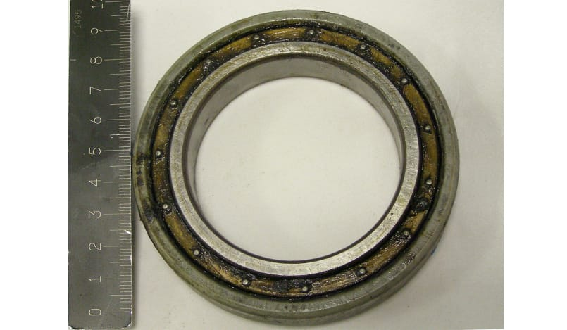 An electric motor bearing for railway