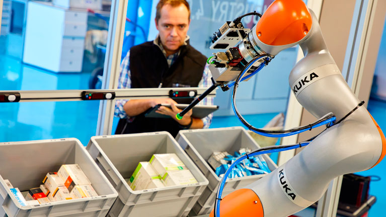 bin picking, robotika, automatizazioa, materiala manipulatzea