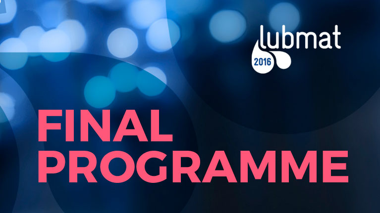 LUBMAT 2016, Programa, Lubricación, Mantenimiento, Tribología