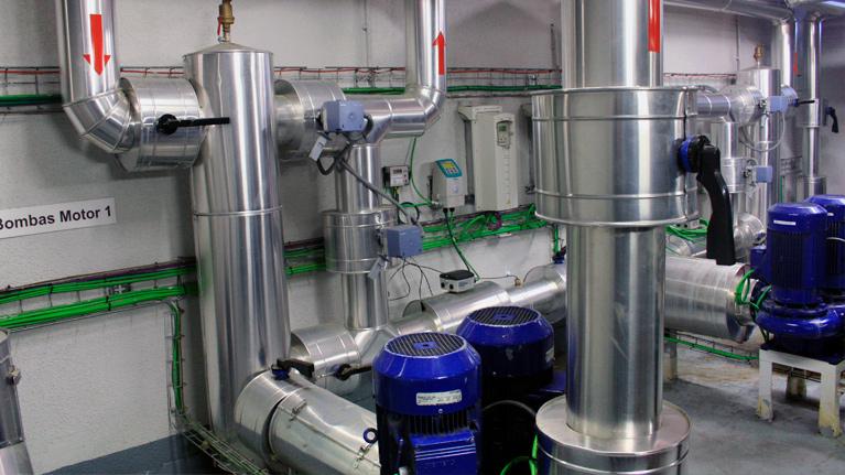 Eficiencia energética, redes de frío, redes de refrigeración de distrito, ahorro energético